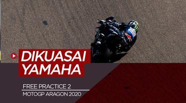 Berita Video hasil free practice di MotoGP Aragon, Jumat (16/10/20). Maverick Vinales tercepat