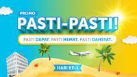 "Promo ""Pasti-Pasti"" menjamin siapa pun yang memesan hotel dan tiket pesawat via Traveloka App dapat menikmati berbagai penawaran menarik."