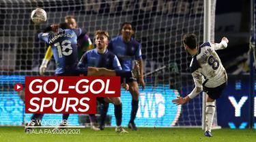Berita video gol-gol yang tercipta saat Tottenham Hotspur mengalahkan Wycombe Wanderers 4-1 pada babak keempat Piala FA 2020/2021, Selasa (26/1/2021) dinihari WIB.