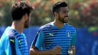 Striker tim nasional Italia, Graziano Pelle. (AFP/Vincenzo Pinto)