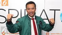 Menpora Imam Nahrawi saat menjadi pembicara dalam Program inspirato Liputan6.com di Jakarta, Selasa (21/2).(Liputan6.com/Angga Yuniar)
