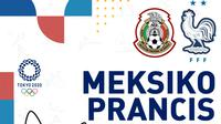 Olimpiade 2020 - Meksiko Vs Prancis (Bola.com/Adreanus Titus)
