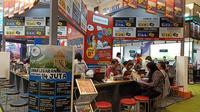Hari pertama penyelenggaraan ASTINDO Travel Fair di JCC, Jumat (21/2/2020). (Liputan6.com/Dinny Mutiah)