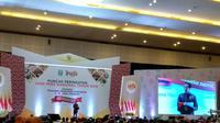 Presiden Jokowi menghadiri Hari Pers Nasional (HPN) 2019 di Surabaya. (Liputan6.com/Maulandy Rizky Bayu Kencana)