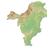 Ilustrasi Peta Kalimantan Timur. Sumber foto: Shutterstock/Schwabenblitz.