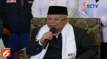 Ma'ruf Amin menjelaskan, bahwa ia mengalami kaki terkilir sejak lama sehingga dokter menyarankan untuk istirahat sejenak dari kegiatan-kegiatan ke daerah-daerah.