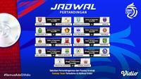 Jadwal dan Link Live Streaming Pertandingan Pekan Ketiga BRI Liga 1 2021 / 2022. (Sumber : dok. vidio.com)
