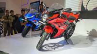 Suzuki GSX-R 150 siap bersaing dengan Yamaha R15 dan Honda CBR150R (Septian/Liputan6.com)