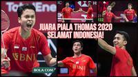 Indonesia Juara Piala Thomas 2020. (Photo by BWF/Grafis Wiwig Prayugi)