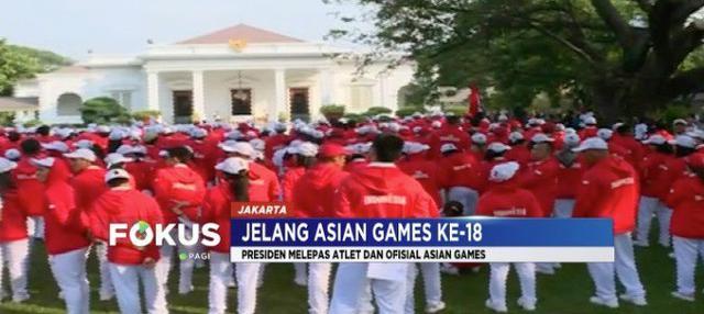 Presiden Jokowi lepas 904 atlet dan official untuk mengharumkan nama Indonesia di ajang Asian Games 2018.