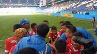 Wakil Indonesia, FOSSBI Rajawali Muda di Danone Nations Cup (Liputan6.com / Jonathan Pandapotan)