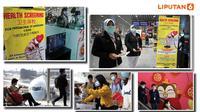 Banner Infografis Waspada Penyebaran Virus Corona China. (Sumber Foto: AP dan AFP)