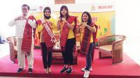 "Kalbe luncurkan Mixagrip ""Explore Budaya Indonesia"" bersamaan dengan kegiatan Gowes Pesona Nusantara di Lapangan Pondok Pinang, Jakarta."