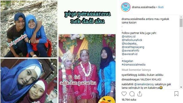 kisah gadis merelakan mantan kepada adiknya (foto: @drama.sosialmedia)