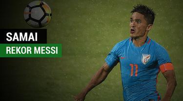 Berita video pemain India, Sunil Chhetri, berhasil menyamai rekor Lionel Messi di Argentina. Rekor apakah itu?
