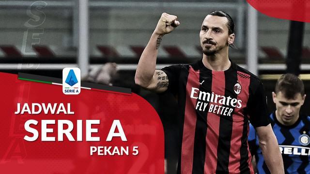 Berita motion grafis jadwal Liga Italia pekan 4. AC Milan menjamu AS Roma di San Siro, Selasa (27/10/2020).