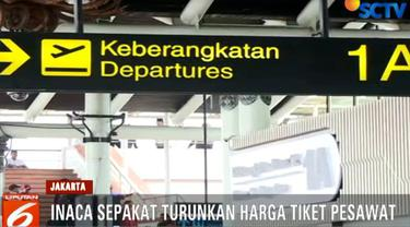 Penurunan antara lain diberlakukan untuk rute Jakarta-Denpasar, Jakarta-Yogyakarta, Bandung-Denpasar, dan Jakarta-Surabaya.