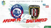 Liga 1 2018 Arema FC Vs Bali United (Bola.com/Adreanus Titus)