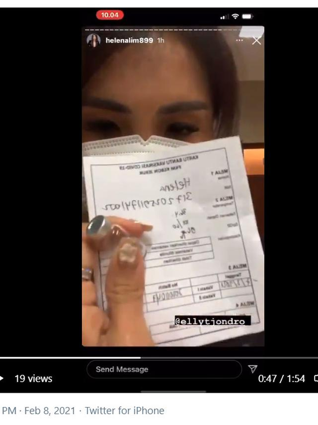 Helena Lim, Sosok Crazy Rich yang Ketahuan Lakukan Vaksinasi COVID-19