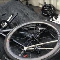 Sepeda milik Sandy Syafiek yang meninggal setelah ditabrak Dodge Journey, Sabtu (1o/2/2018) pagi di Jl. Gatot Subroto. (Sumber Foto: Liputan6)