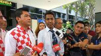Solidaritas Merah Putih atau Solmet melaporkan Wakil Ketua DPR Fahri Hamzah ke Polda Metro Jaya terkait orasinya Jumat, 4 November 2016, Rabu (9/11/2016). (Nanda Perdana Putra/Liputan6.com)