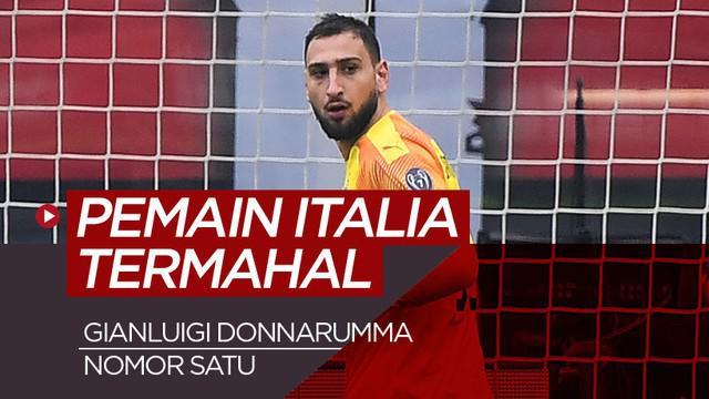 Berita motion grafis 5 pemain Italia termahal di dunia, Gianluigi Donnarumma nomor satu.