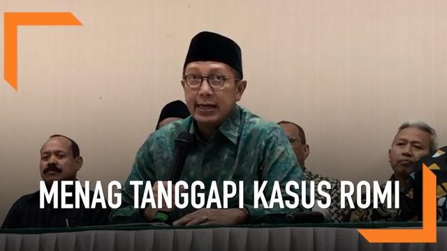 Menteri Agama, Lukman Hakim Saifuddin menyesalkan kasus suap yang melibatkan dua pejabat di kementeriannya. Ia menyatakan permintaan maaf pada masyarakat, dan berjanji akan kooperatif dalam penuntasan kasus ini