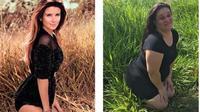 Renata Neia, seorang sekretaris yang tiru pose para model terkenal di Instagram. (Sumber: renata_neia)
