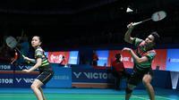 Ganda campuran Indonesia, Tontowi Ahmad/Winny Oktavina Kandow, melangkah ke perempat final Malaysia Terbuka 2019, Kamis (4/4/2019). (PBSI)