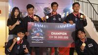 ExoG, tim Mobile Legends asal Pontianak, menjadi jawara pada turnamen Red Bull Rebellion Rising Star Challenge.  (FOTO / Red Bull)