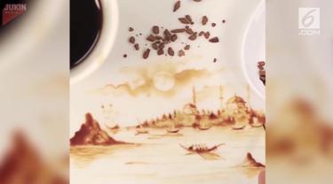 Seorang seniman mampu membuat sebuah lukisan indah bermodalkan kuas, kanvas, dan secangkir kopi.