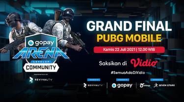 Jadwal dan Live Streaming Grand Final GoPay Arena Level Up Community PUBGM di Vidio, Kamis 22 Juli 2021