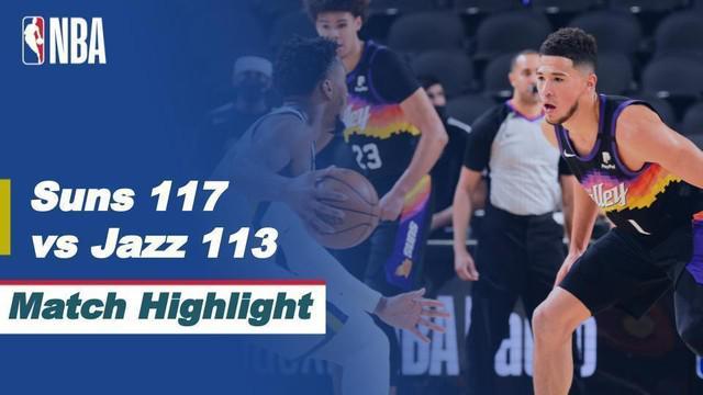 Berita video highlights laga seru NBA 2020/2021 antara Phoenix Suns melawan Utah Jazz yang berlangsung seru, Kamis (8/4/2021) pagi hari WIB.