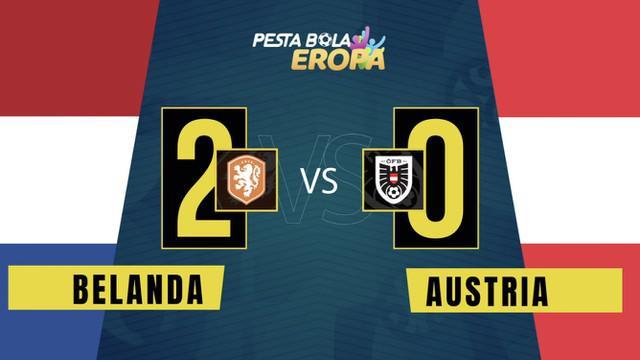 Berita video motion grafis pertandingan Grup C Euro 2020 antara Belanda melawan Austria yang berakhir dengan skor 2-0, Jumat (18/6/2021) dinihari WIB.