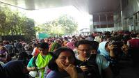 KAI menyiapkan 642 ribu tiket kereta yang bisa dibeli di mitra-mitra penjualan. (Liputan6.com/Fiki Ariyanti)