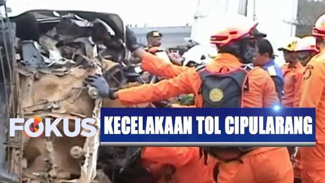 Hasil penyelidikan sementara menunjukkan kecelakaan maut tersebut bermula dari kecelakaan tunggal dump truk hingga terguling di jalan tol.