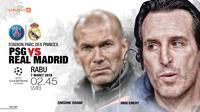 Paris Saint-Germain vs Real Madrid (Liputan6.com/Abdillah)