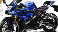 Tampang sangar calon Yamaha R25 terbaru. (Youngmachine)