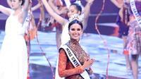 Miss Universe 2018 Catriona Gray menghadiri acara penobatan Puteri Indonesia 2019 di Jakarta Convention Center, Jakarta Pusat (Dok.Instagram/@catrionagray/https://www.instagram.com/p/BuxmPO6A_RR/Komarudin)