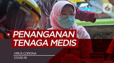 Beritan motion grafis alur penanganan Viros Corona/Covid-19 di Indonesia untuk tenaga medis.