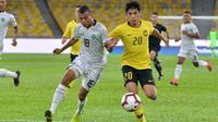 Timnas Malaysia menggulung Timor Leste 7-1 dalam leg pertama putaran pertama kualifikasi Piala Dunia 2022 di Stadion Nasional Bukit Jalil, Kuala Lumpur (7/6/2019). (Bola.com/Dok. FAM)