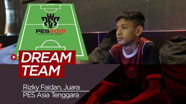 Berita video formasi tim terbaik Rizky Faidan, Juara PES Asia Tenggara.