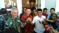 Ahok, Ridwan Kamil dan Ganjar Pranowo bertemu di Balai Kota Jakarta