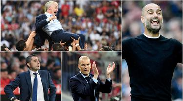Berikut ini 11 pelatih terbaik yang masuk nominasi FIFA 2018. Tidak ada nama pelatih Manchester United, Jose Mourinho dalam daftar yang dirilis oleh FIFA tersebut. (Foto-foto Kolase AP dan AFP).