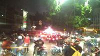 Lalu lintas di Arteri Pondok Indah (twitter: @pilihanz)