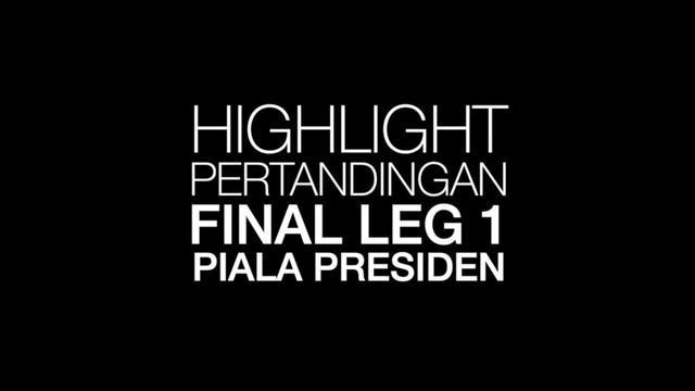 Berita video highlight Final Piala Presiden leg 1 antara Persebaya Surabaya melawan Arema FC yang berakhir dengan skor 2-2.
