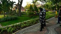 Wali Kota Surabaya Tri Rismaharini kunjungi Taman Ngagel (Foto: Liputan6.com/Dian Kurniawan)