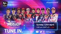 MotoGP Virtual Race Jilid II, Minggu (12/4/2020). (Twitter/MotoGP)