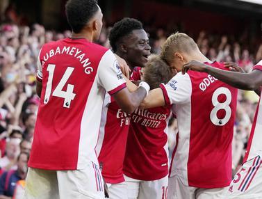 Foto: Bukayo Saka Cetak Asisst dan Gol, Arsenal Kembali ke Jalan yang Benar