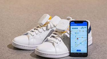 Sepatu navigasi untuk pejalan kaki buatan anak perusahaan Honda, Ashirase Inc  (Dok. Honda)